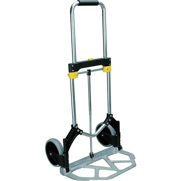 Diable de manutention télescopique - Pliable - Aluminium - Charge 90 kg