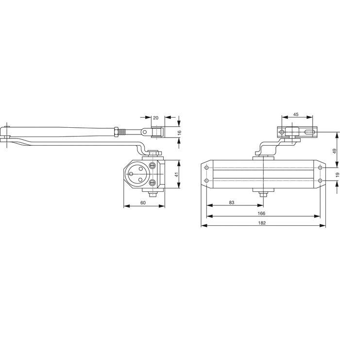 Ferme-porte DC110 - Bras compas-1