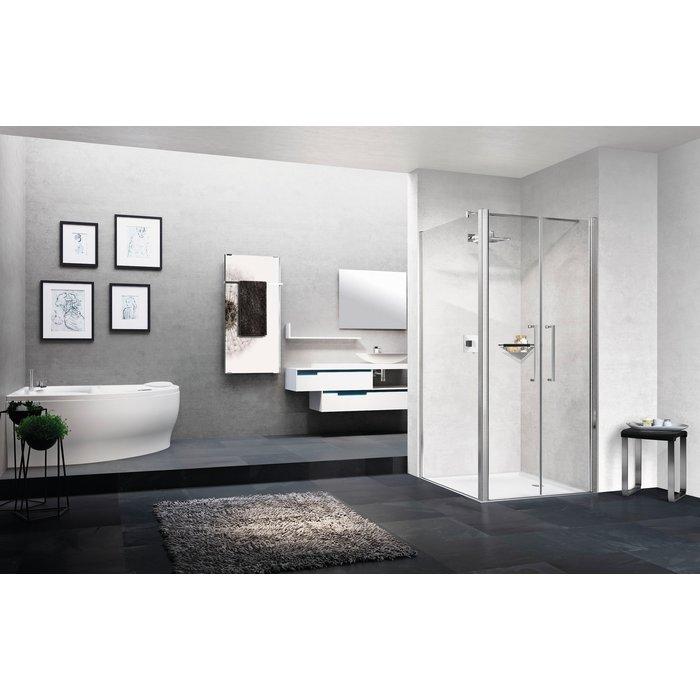 Porte douche battante - Young 2.0 - 2B - Vitrage transparent-2