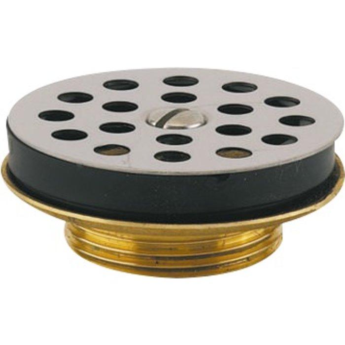 Bonde à grille de lavabo - Laiton chromé - Diamètre 63 mm