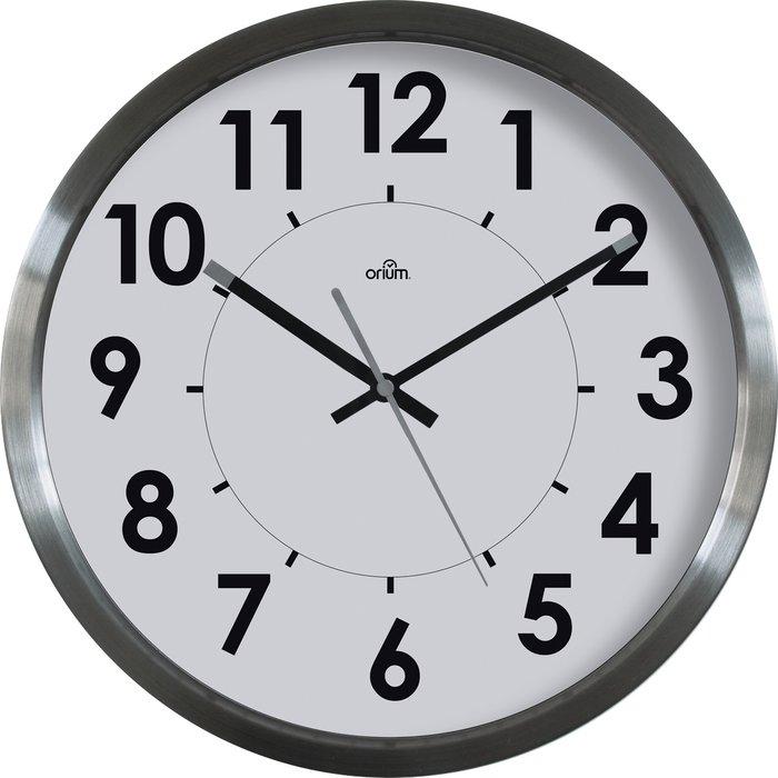 Horloge inox Stan - Diamètre 35 cm