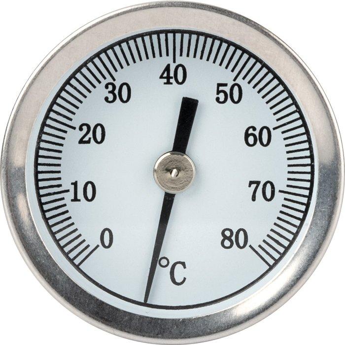 Thermomètre à cadran axial