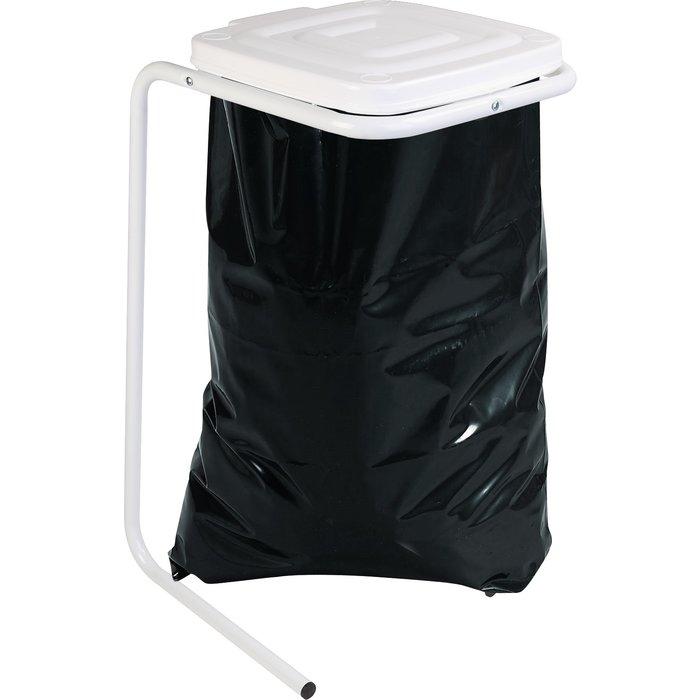 Support sac poubelle sur pieds avec couvercle - Capacité du sac 30 à 120 l