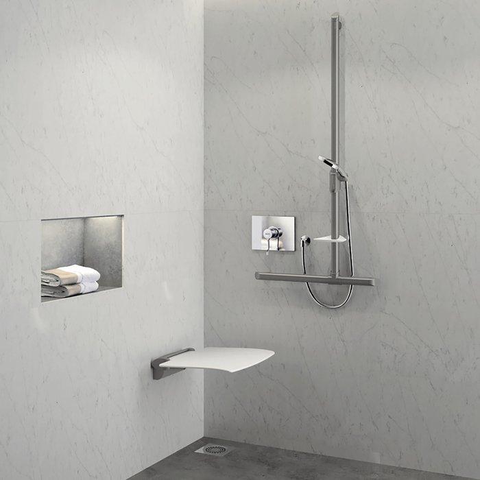 Siège de douche relevable - Anthracite
