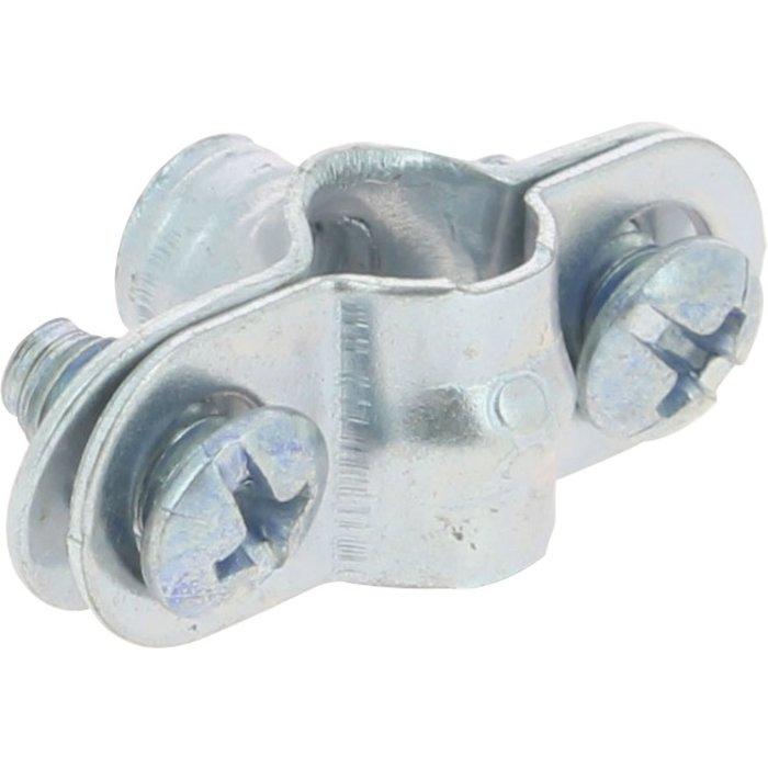 Collier de fixation tube - Fixation simple - 8 mm