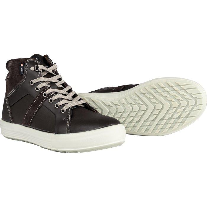 Chaussures hautes de sécurité Vision - Cuir - Marron / Noir-3
