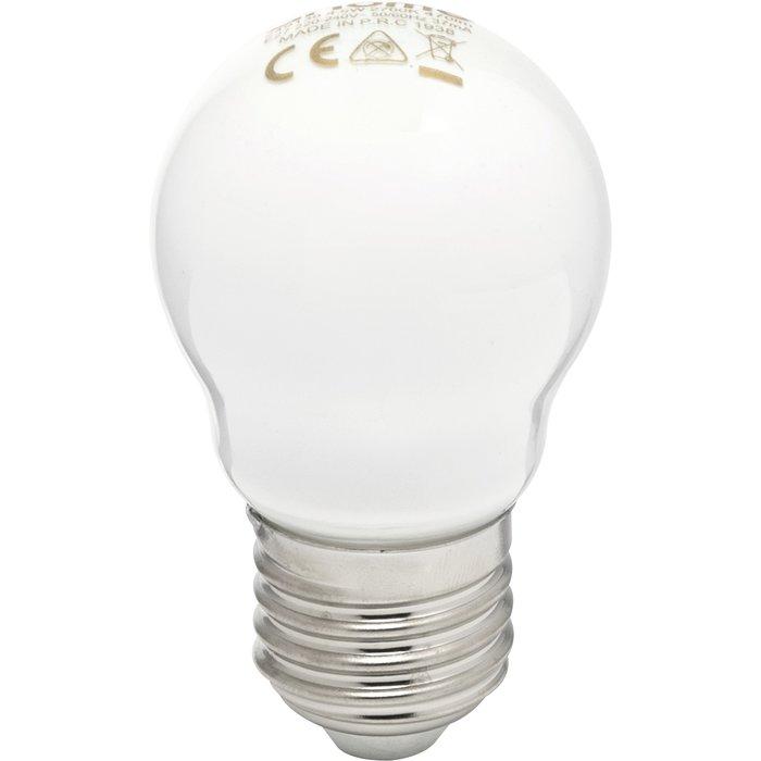 Ampoule LED spérique dépolie - E27