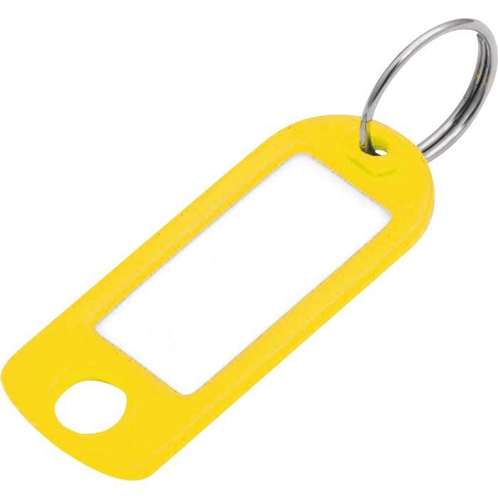 Porte-clés étiquette avec fenêtre - Plastique - Vendu par 100-4
