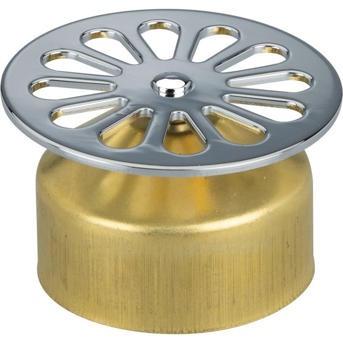 Grille de vidage à cloche - Laiton - Diamètre 55 mm