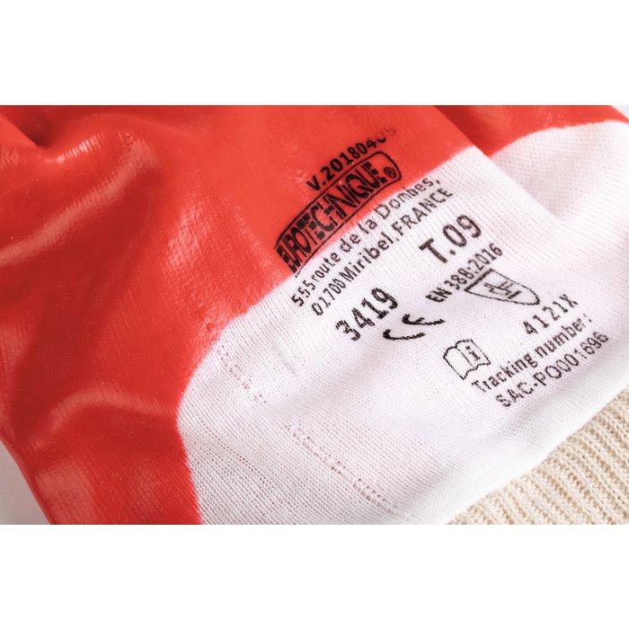 Gants de protection - Protection chimique - PVC - Rouge-2