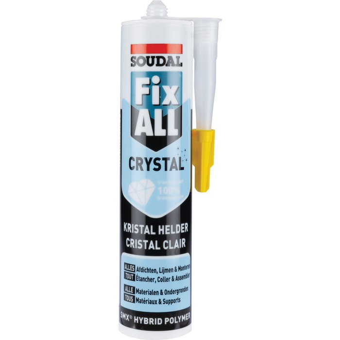 Mastic-colle Fix All® Crystal - Translucide
