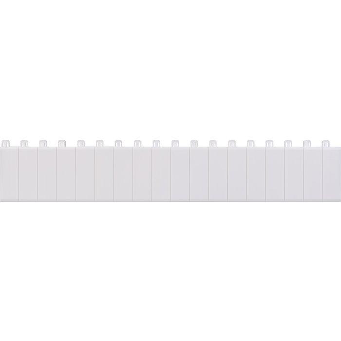 Obturateur pour coffret Ekinoxe TX à 18 modules - Blanc