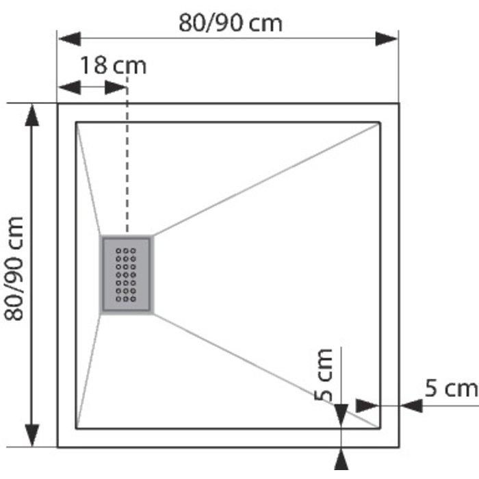 Receveur de douche carré Kinesurf-1