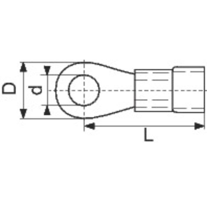 Cosse à sertir pour câblage - Anneau - Pré-isolée - PVC-1