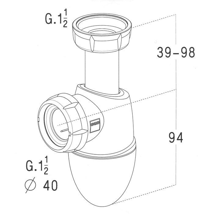 Siphons d'évier Easyphon-1