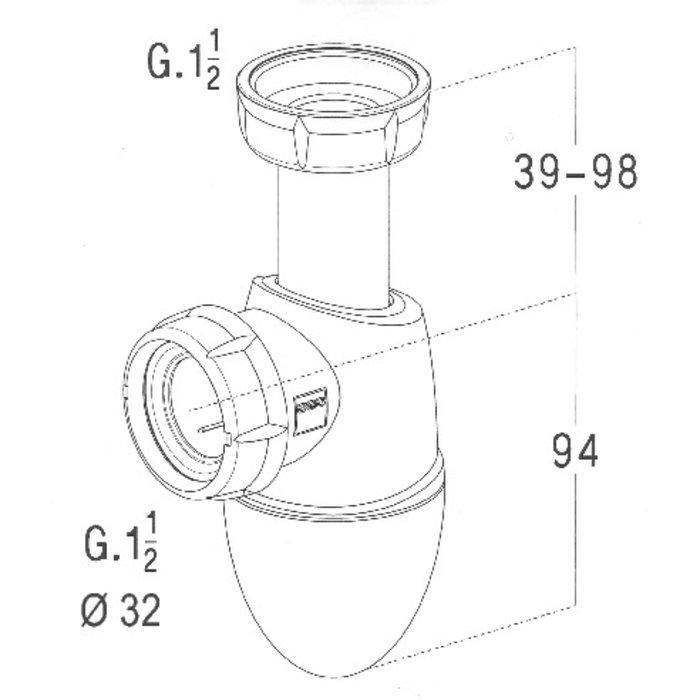 Siphon de lavabo Easyphon-1