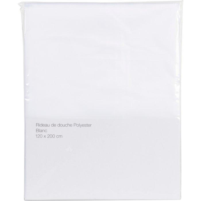 Rideau de douche textile - Blanc-1