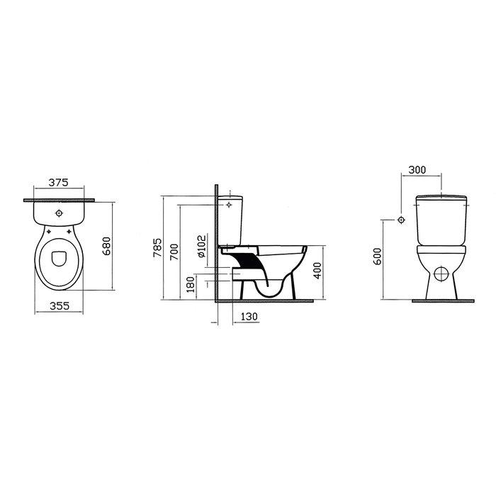 Pack WC céramique - Mécanisme 3/6 l-1