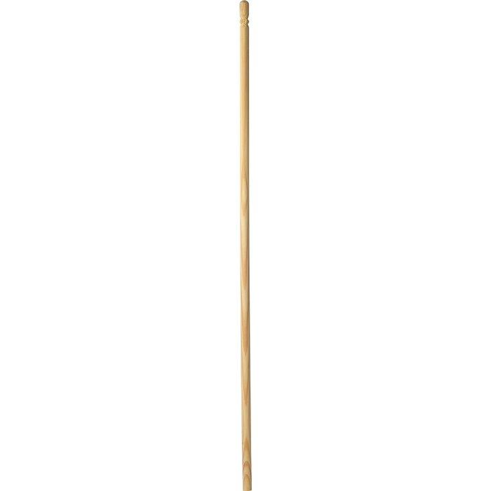 Manche à balai sans filetage - Bois brut - Longueur 1,3 m