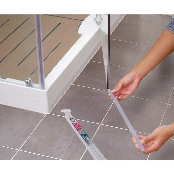 Baguette PVC pour bas de porte de douche-4