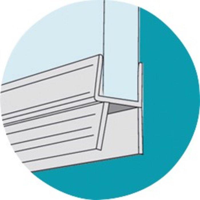 Baguette PVC pour bas de porte de douche-3