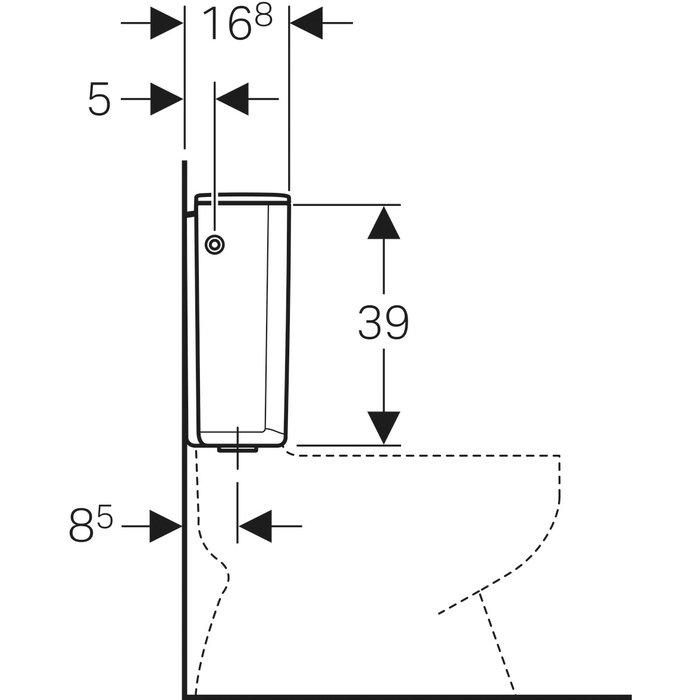 Réservoir WC attenant AP 128 - Simple débit-1