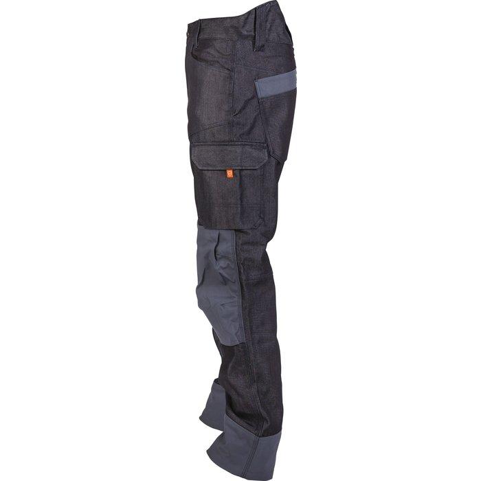 Pantalon de travail multipoches Boréal - Denim - Bleu-4