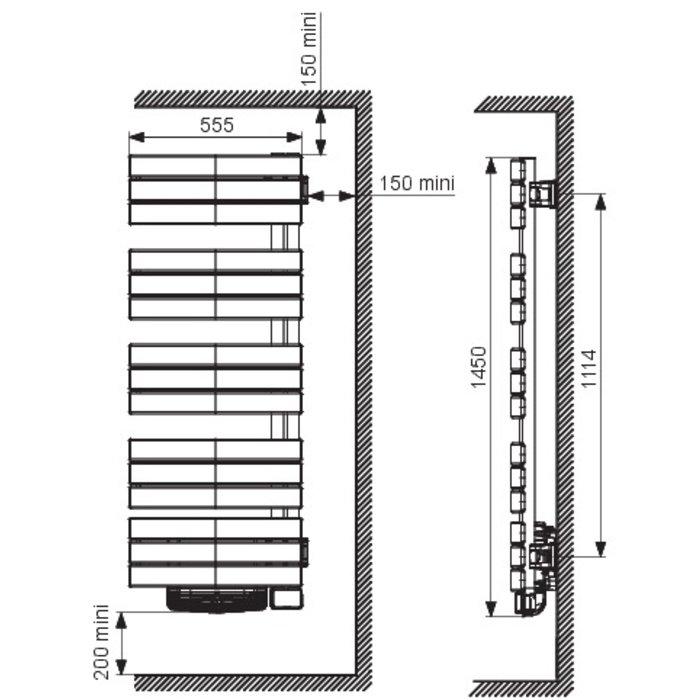 Sèche-serviette mixte Nefertiti avec ventilateur soufflant - Blanc-1