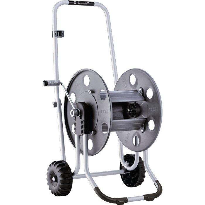 Dévidoir de tuyau d'arrosage sur roues pro - Métallique-3