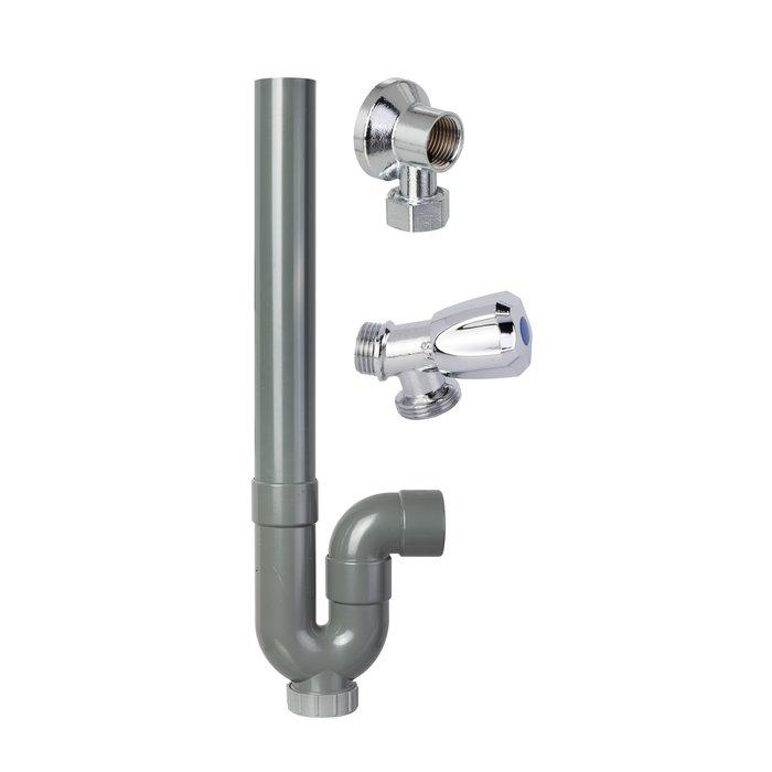 Colis robinets appliques siphons pour machine à laver - Jeu de 10 de chaque