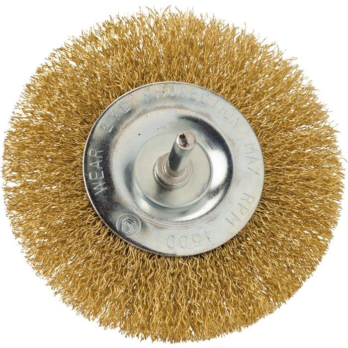 Brosse circulaire fils acier laitonné ondulés-3