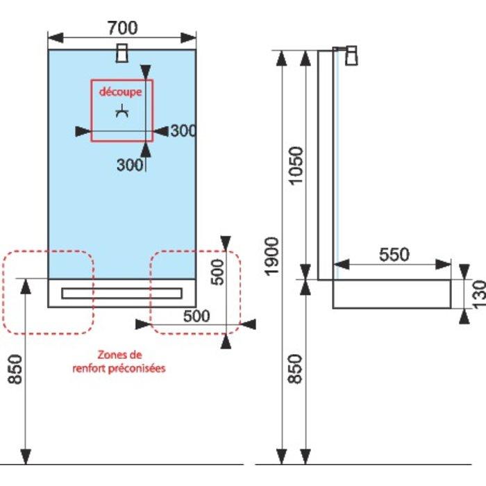 Plan vasque céramique Léa-1