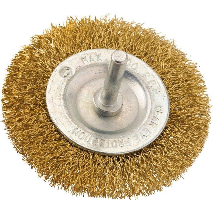 Brosse circulaire fils acier laitonné ondulés-2