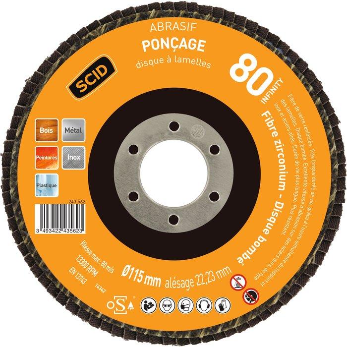 Disque à lamelles pour ponçage - Zirconium - Diamètre 115mm