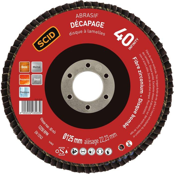 Disque à lamelles pour ponçage - Zirconium - Diamètre 125mm