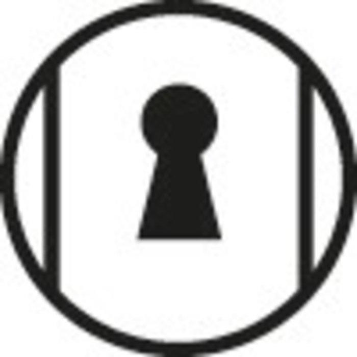 Poignée de porte sur plaque Cortina - Argent-2