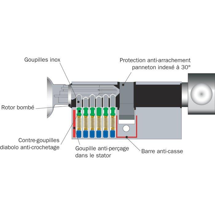 Cylindre à bouton F9 - Varié - Nickelé-2