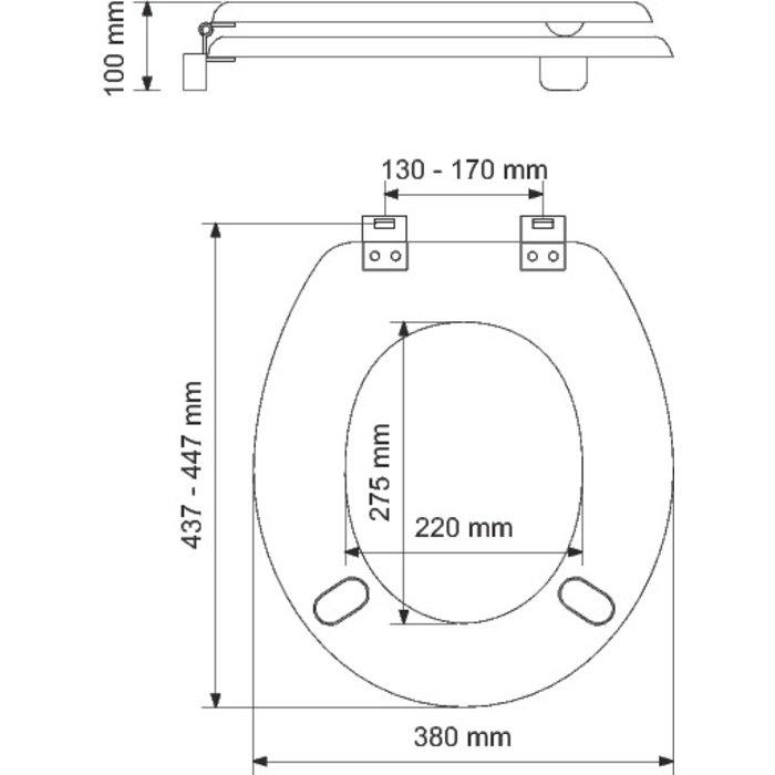 Abattant WC double rehaussé Tradition-1