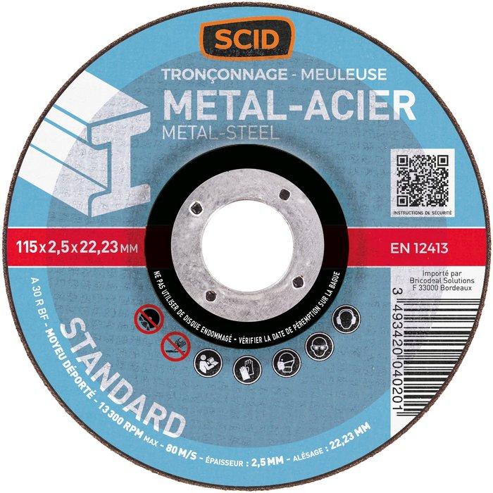 Disque à tronçonner standard métaux