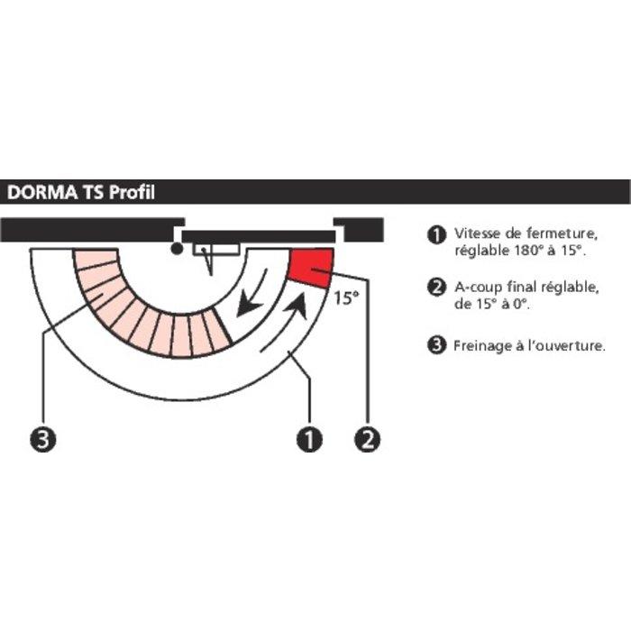 Ferme-porte TS Profil - Bras compas - Force 2 à 4-2