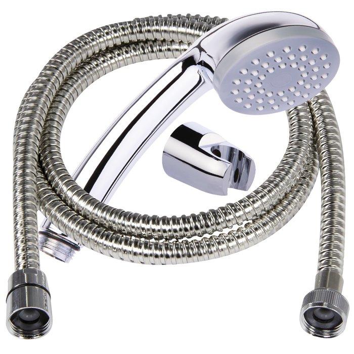 Kit de douche Simplex chromé avec support et flexible