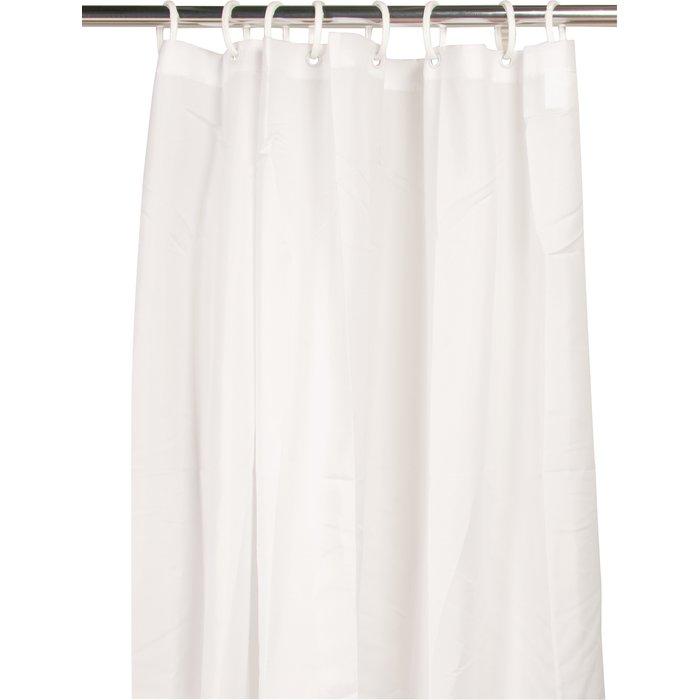 Rideau de douche textile - Blanc