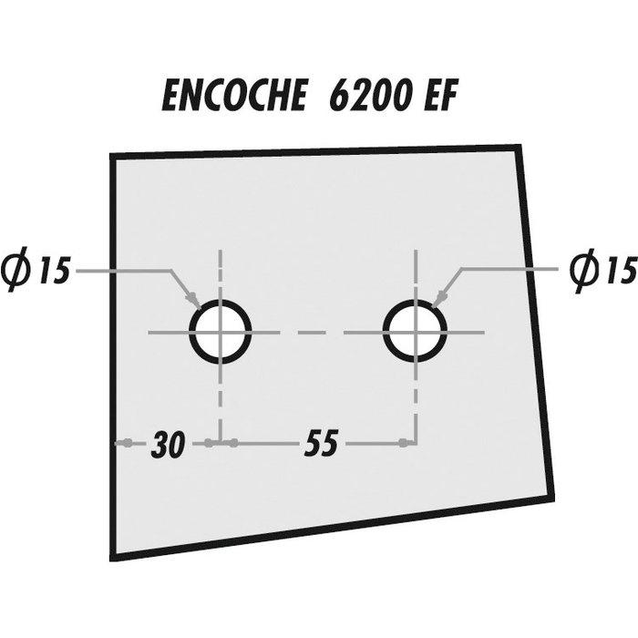 Paumelle et fiche - Série 4200 - Pour porte en verre-2
