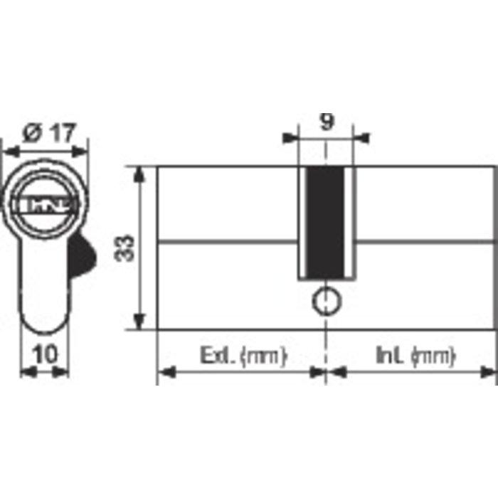 Cylindre 2 entrées ISR6 nickelé-2