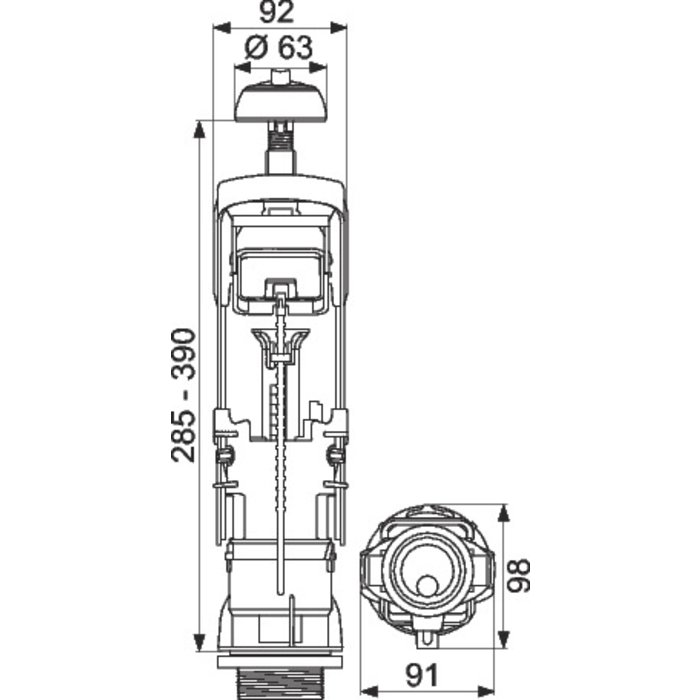 Soupape rénovation de mécanisme WC Clip'Easy - Double débit-1