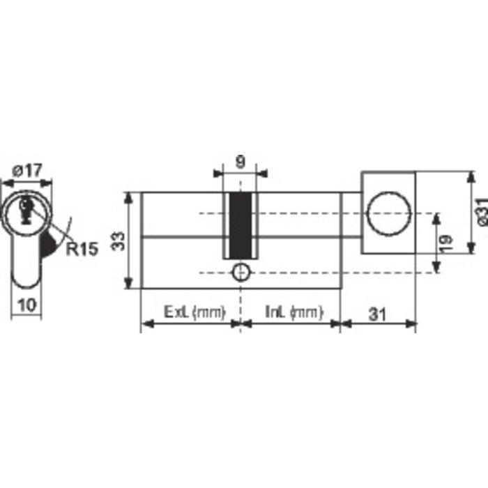 Cylindre à bouton F9 - Varié - Nickelé-1