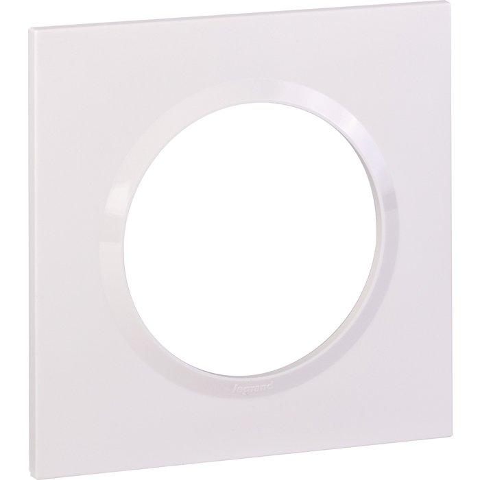 Plaque carrée 1 poste finition - Dooxie composable - Blanc