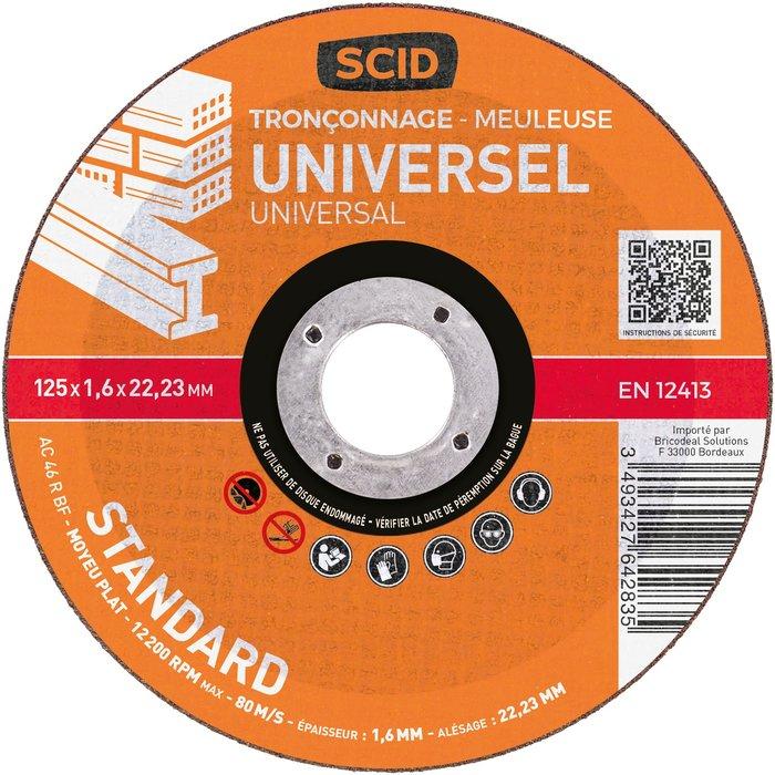Disque à tronçonner moyeu plat universel standard-4