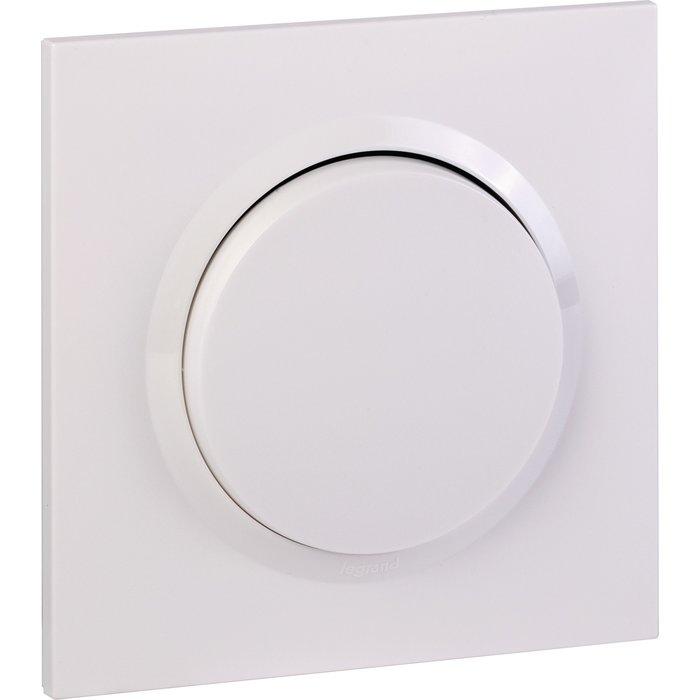 Interrupteur ou va-et-vient + plaque carrée et griffes - Dooxie one - Blanc