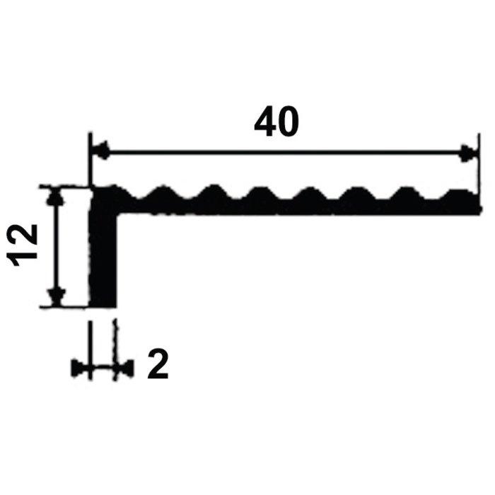 Nez de marche 1244 - Aluminium - Longueur 4 m-1